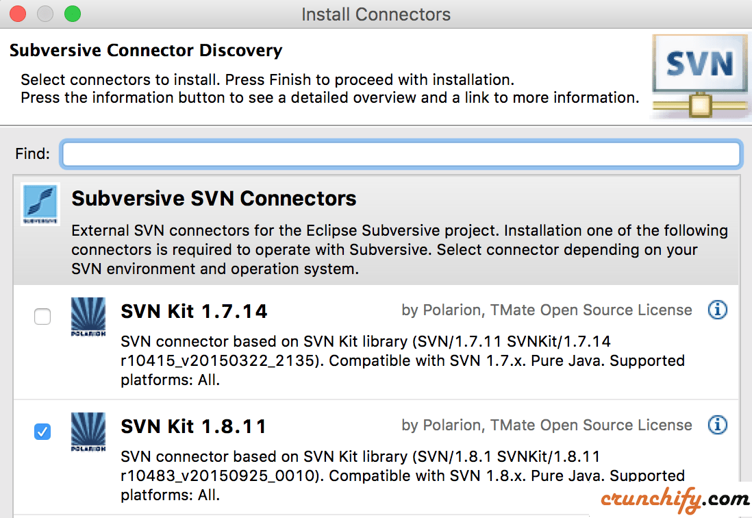 Install Subversion SVN Connetors in Eclipse for WordPress Plugin