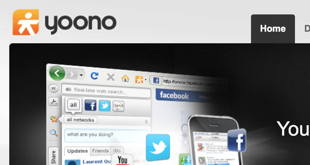 Yoono Web App to manage multiple twitter account