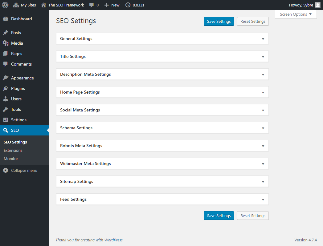 The SEO Framework WordPress Plugin