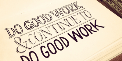 The Secret of Good Work