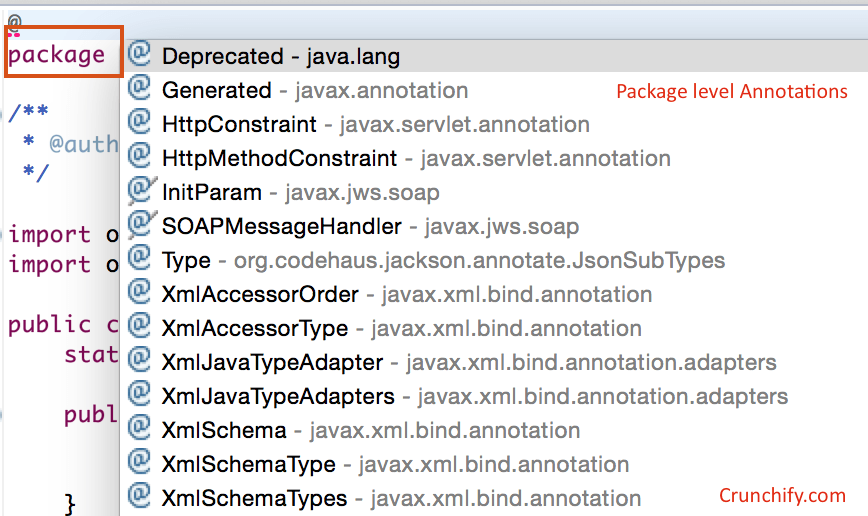 Package level annotations