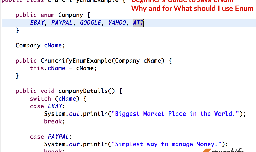 Beginner's Guide to Java eNum – Why and for What should I use Enum? Java Enum Examples