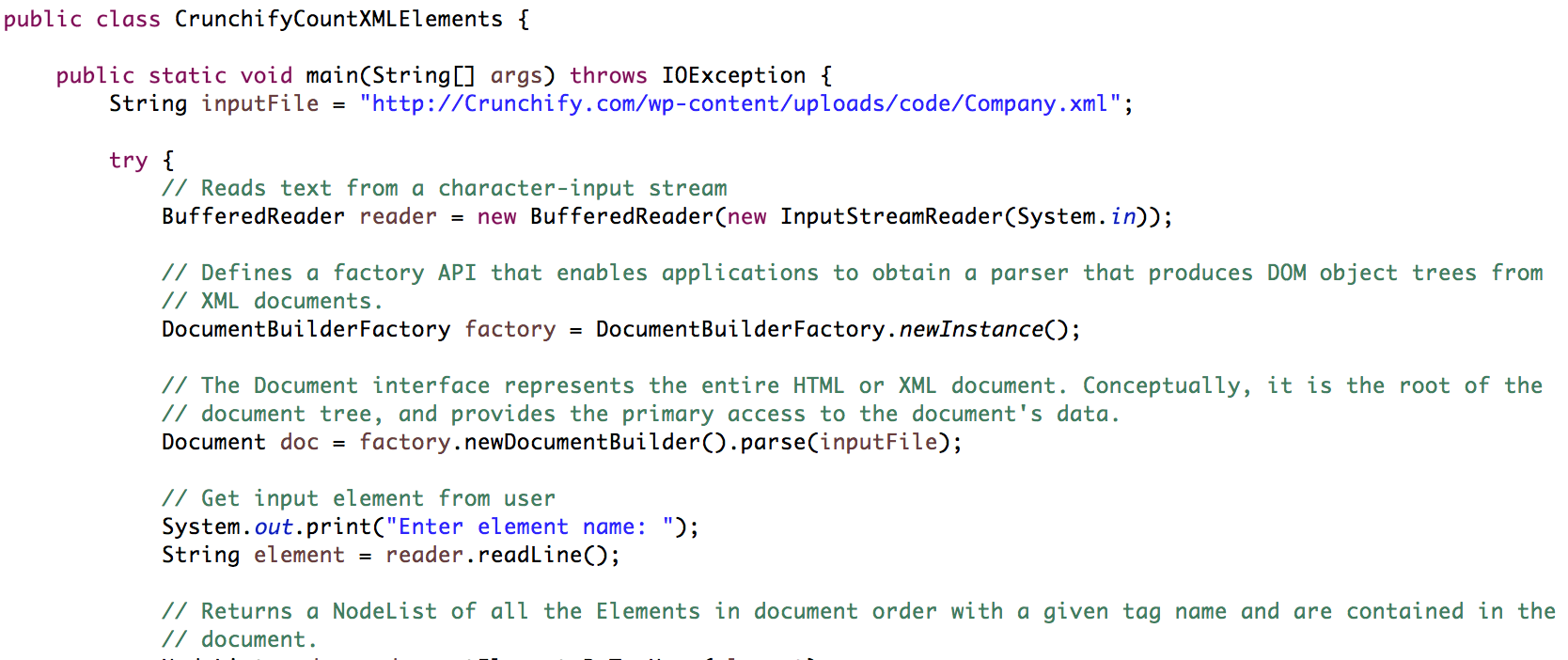 Simple way to Count Number of XML Elements in Java • Crunchify