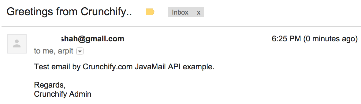 Crunchify.com JavaMail API Example With 2 Factor Authentication Enabled