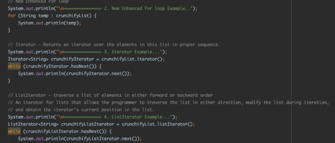 How to iterate through Java List? Seven (7) different ways to Iterate Through Loop in Java