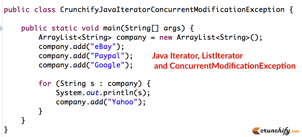 Java Iterator, ListIterator fundamentals and