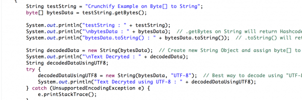 Java: How to convert Byte[] Array To String