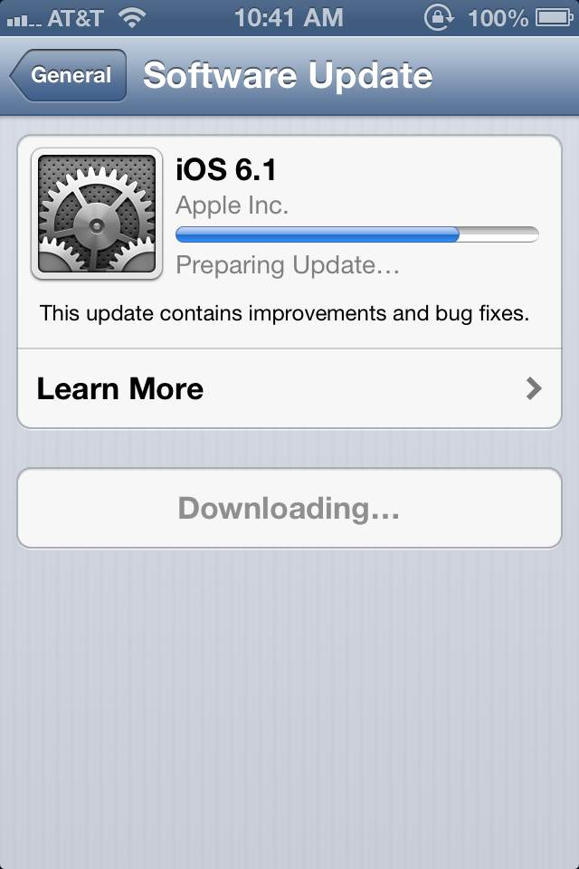 Apple iOS 6.1 Release update