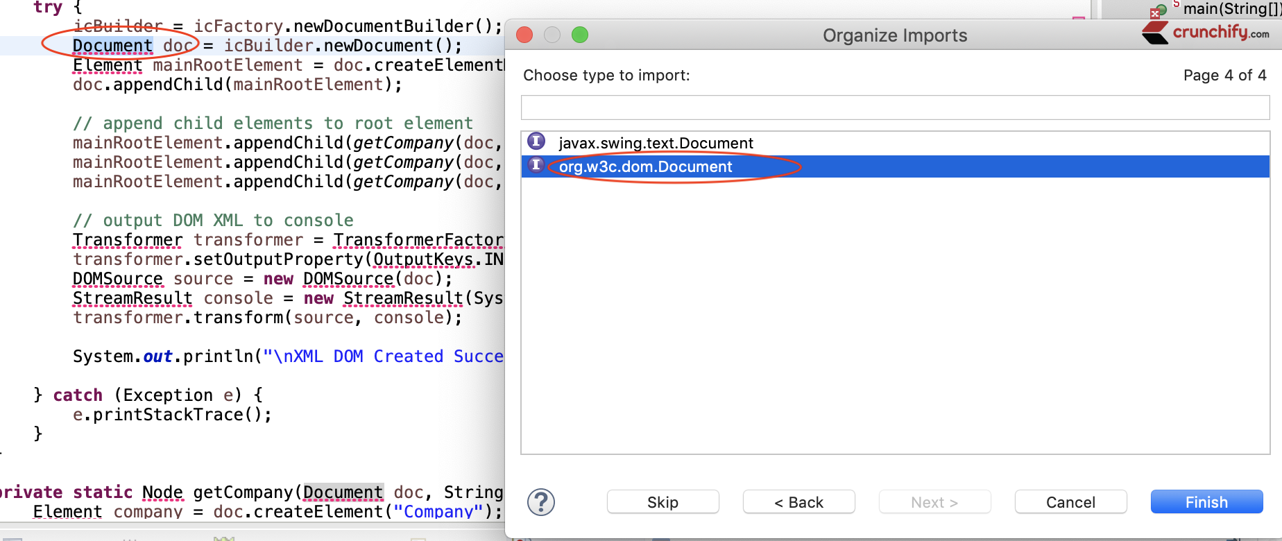 Command Shift O on Mac OS to add missing imports
