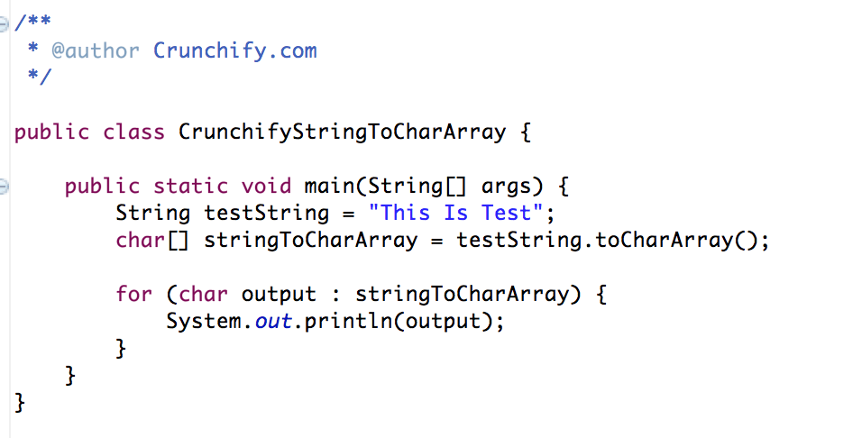 String to Char Array Java Tutorial by Crunchify
