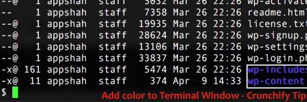 How to Change Mac OS X Terminal Color?