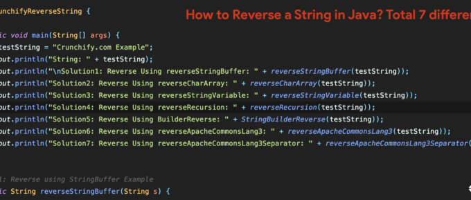 How to Reverse a String in Java? Total 7 different ways