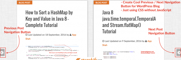 Create Cool Previous-Next Post Navigation Button for WordPress Blog – just using CSS without JavaScript