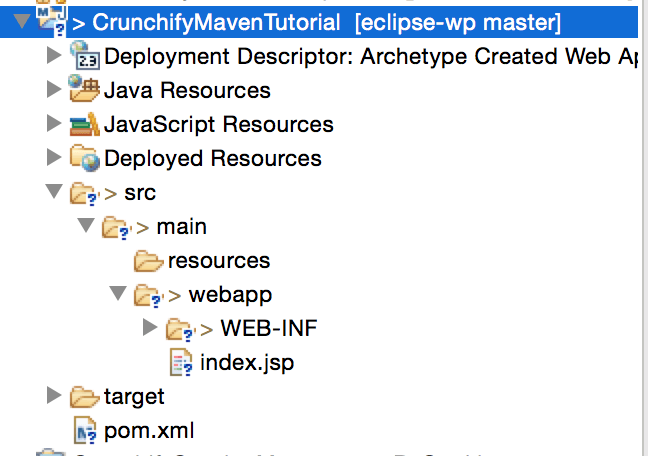 CrunchifyMavenTutorial Eclipse Structure