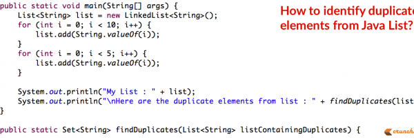 In Java How to Find Duplicate Elements from List?