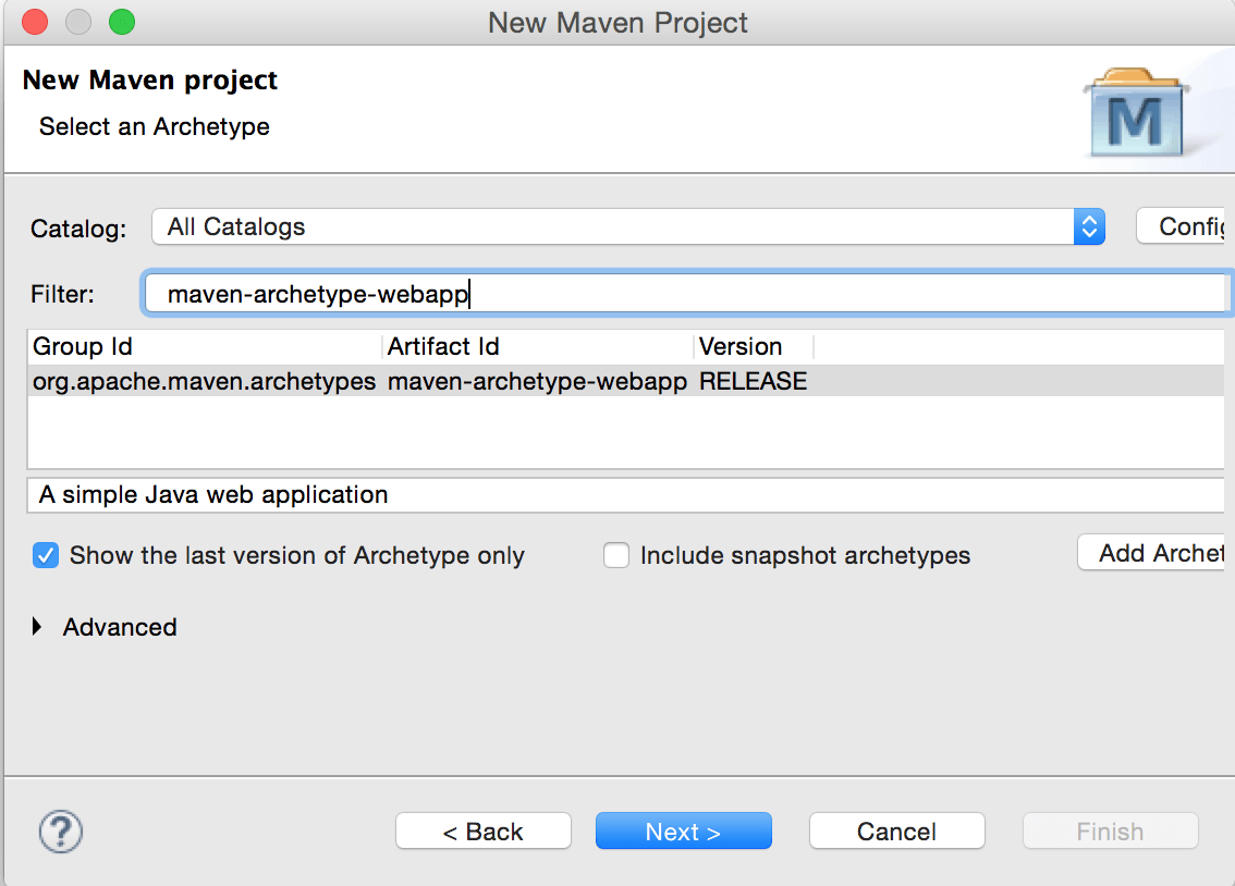 How to create dynamic web project using maven in eclipse crunchify select maven archetype webapp baditri Image collections