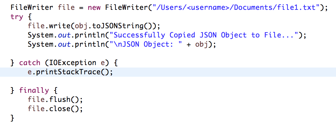 JSON.simple example – Read and write JSON