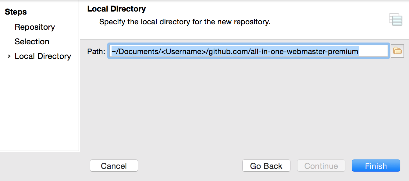 Local Repository Setting - Smartgit