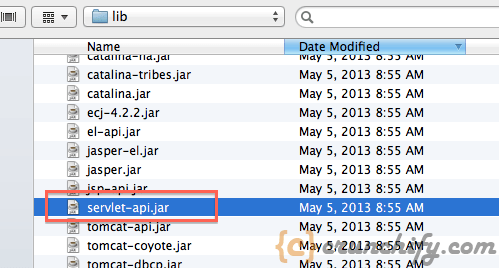 Add Servelet-api.jar file - Apache Tomcat - Crunchify Tips