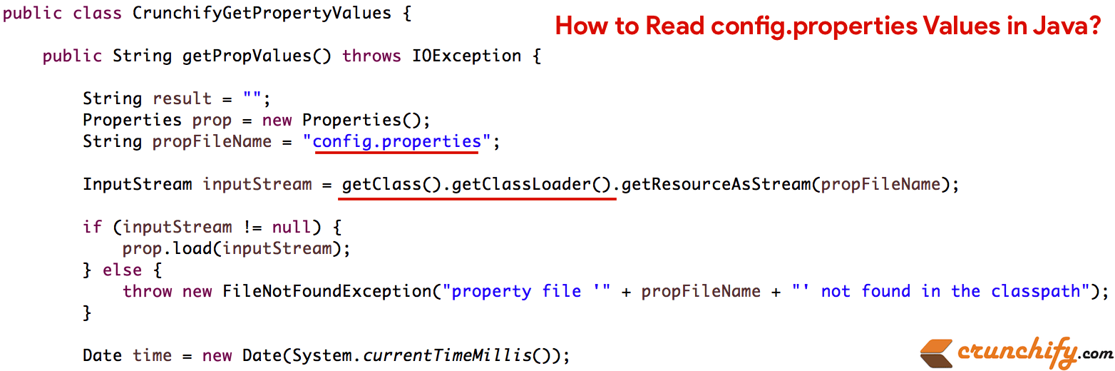 Java Properties File: How to Read config properties Values in Java