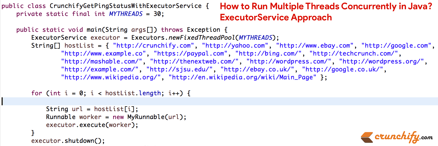 How to Run Multiple Threads Concurrently in Java? ExecutorService