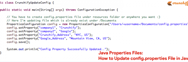 Java Properties Files: How to Update config.properties File in Java?