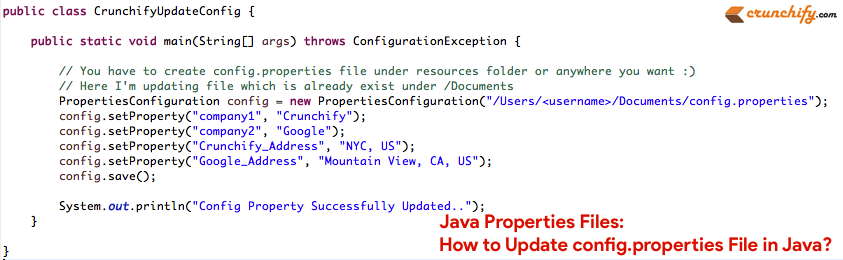 Java Properties Files: How to Update config properties File in Java