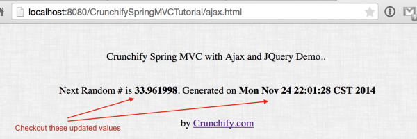 How to use AJAX and jQuery in Spring Web MVC (.jsp) Application