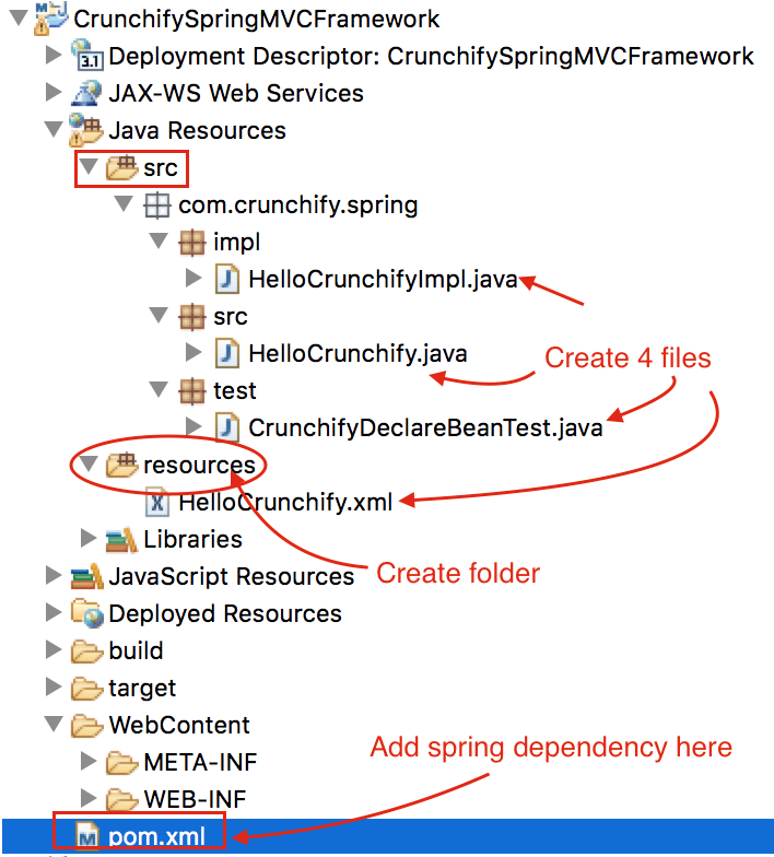 CrunchifySpring MVC Framework - Create simple Bean Example by Crunchify