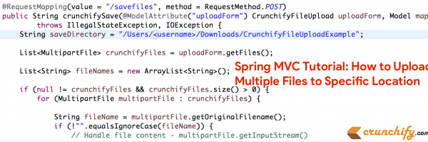 How to Upload Multiple Files to Specific Location using Spring MVC? Complete Tutorial with Java code