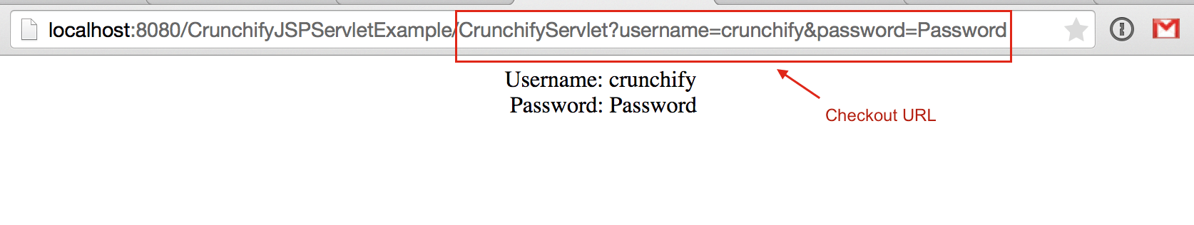 Crunchify Servlet Result