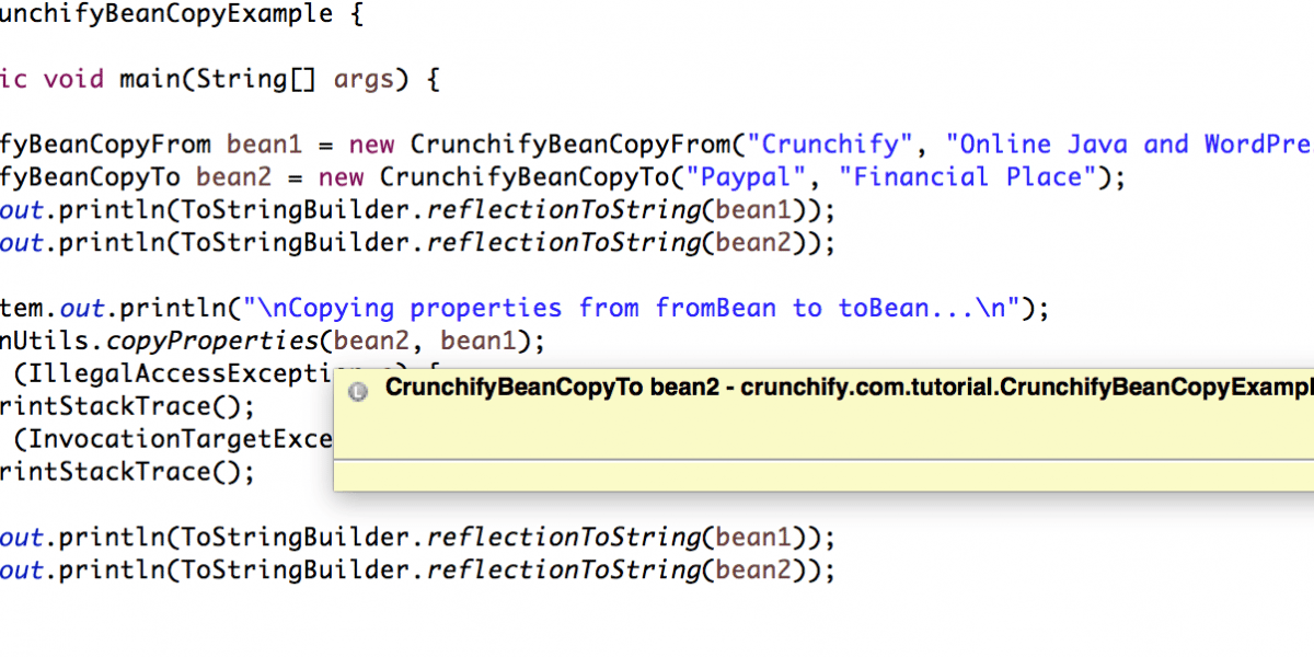 Java: How to Copy Properties from One Bean to Another