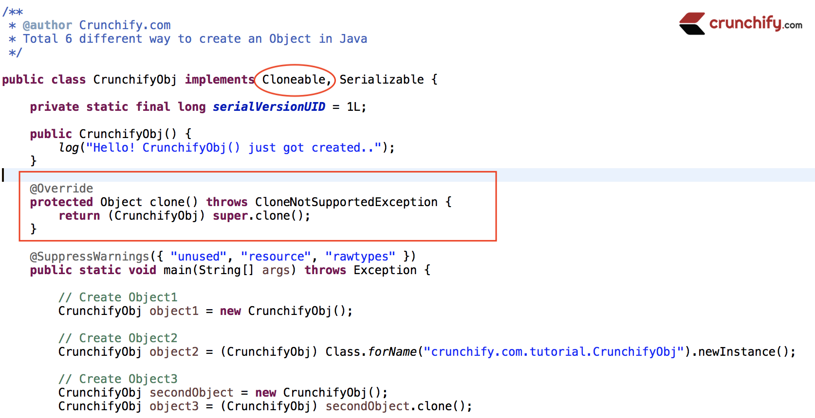 How to fix Exception in thread main - java.lang.CloneNotSupportedException