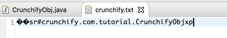 Java Serialized Object - Crunchify Object Tips