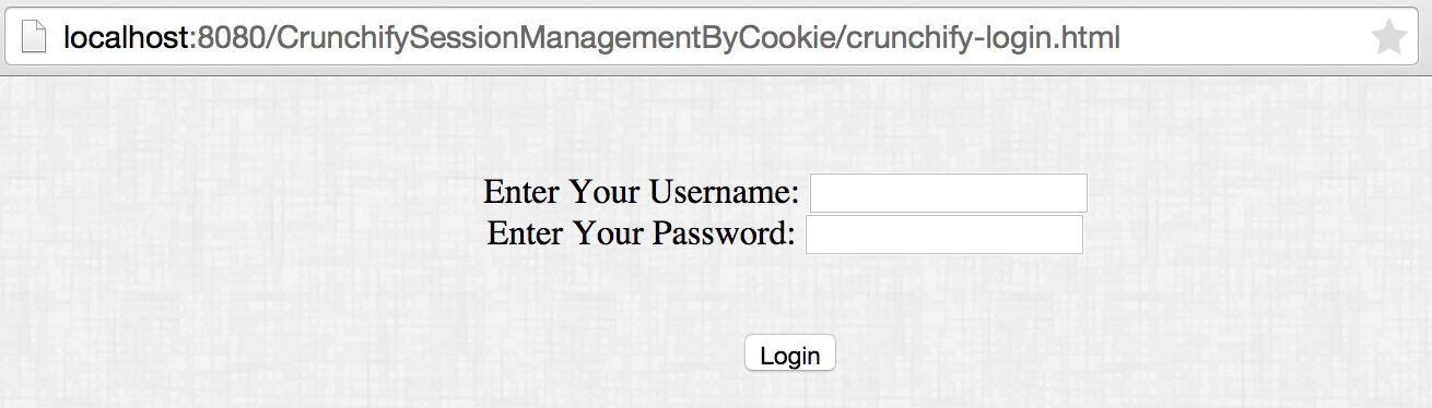 Crunchify Cookies Tutorial - Login Screen