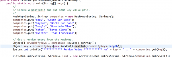 Java: How to Get Random Key-Value Element From HashMap