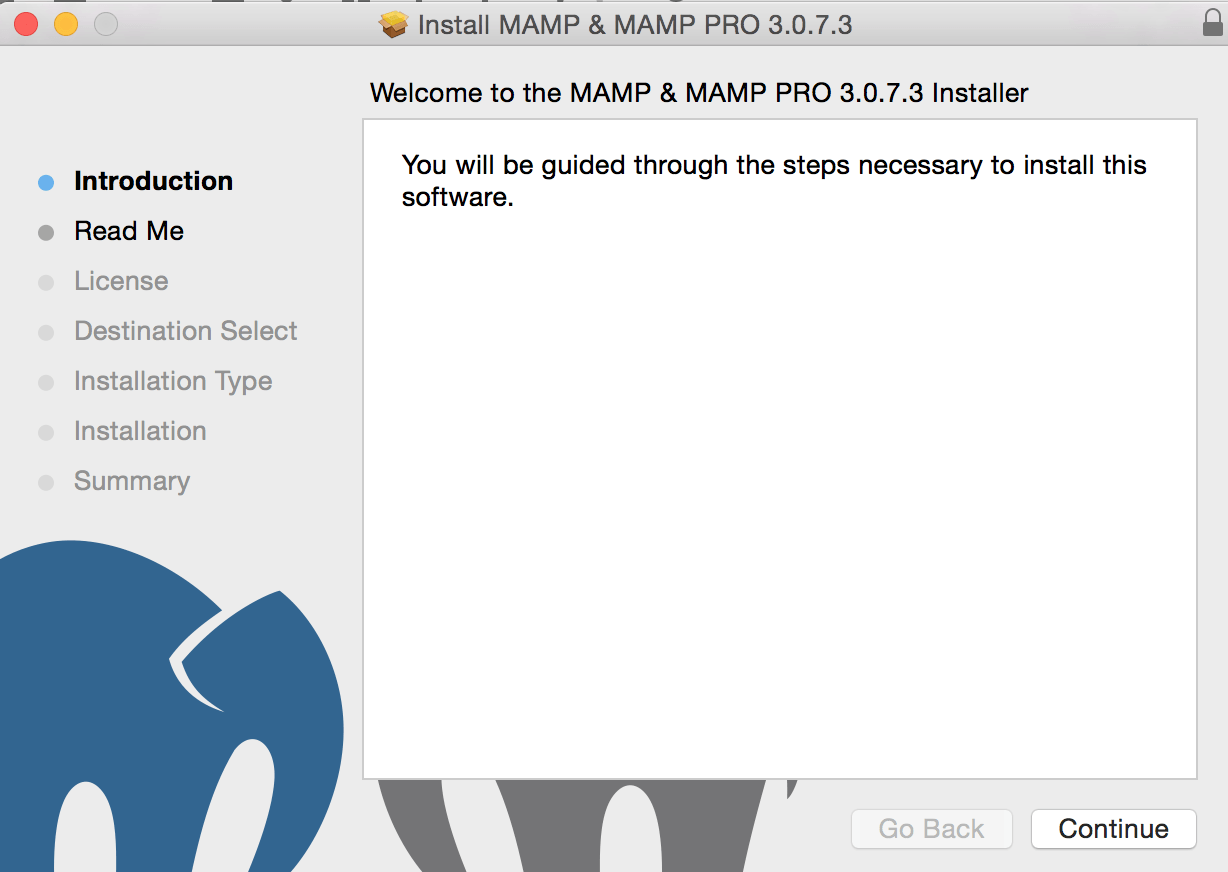 MAMP setup on Mac