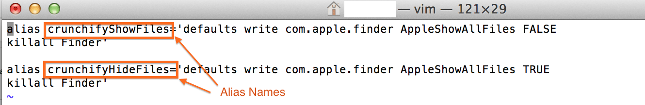 Add alias to .bash_profile in Mac OS X