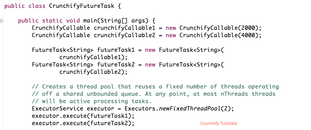 Crunchify Tutorial - Java FutureTask