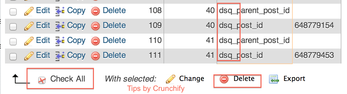 Disqus CommentMeta Cleanup steps - Crunchify Tips4