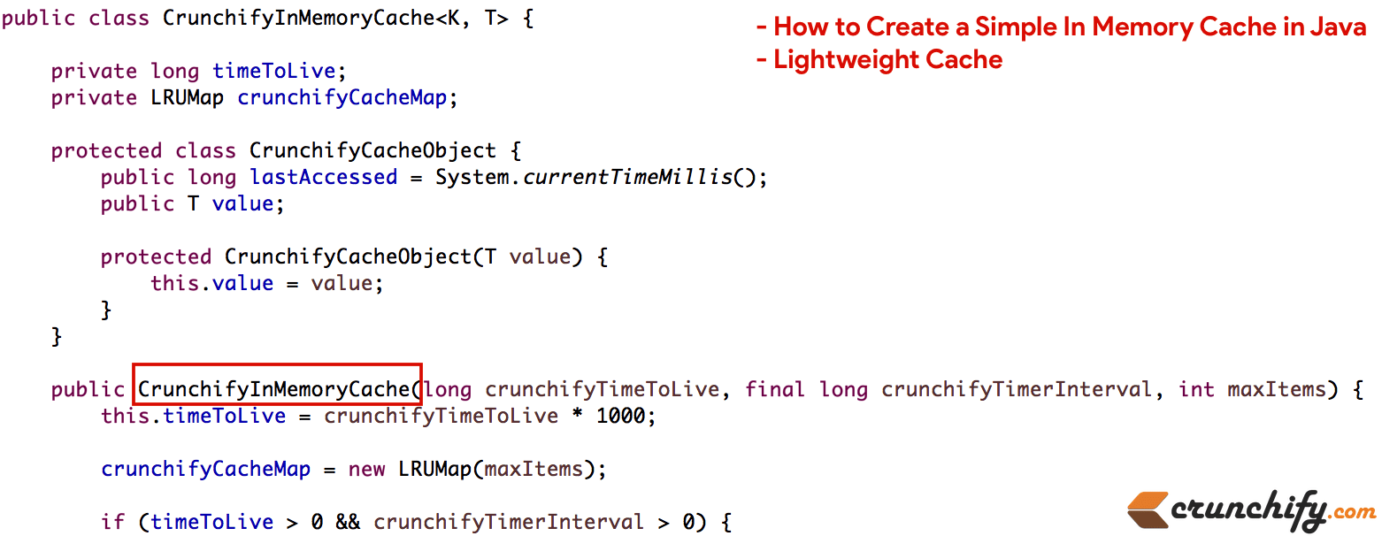 How to Create a Simple In Memory Cache in Java (Lightweight