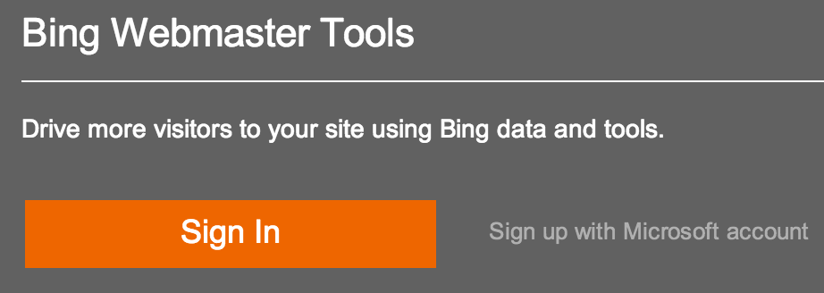 Bing Webmaster Tool - Crunchify Tips 1