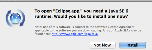"OS X Mavericks Eclipse Java Issue – To open ""Eclipse.app,"" you need Java SE 6 runtime"