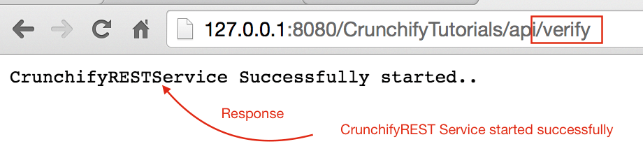 CrunchifyREST Service started successfully