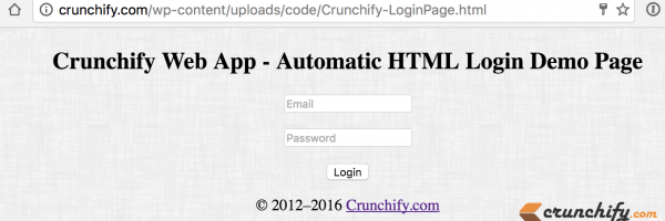 Automatic HTML Login using POST Method – Auto login a Website on Double Click