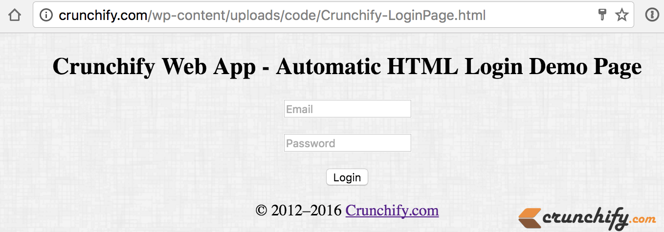 Automatic HTML Login using POST Method - Auto login a