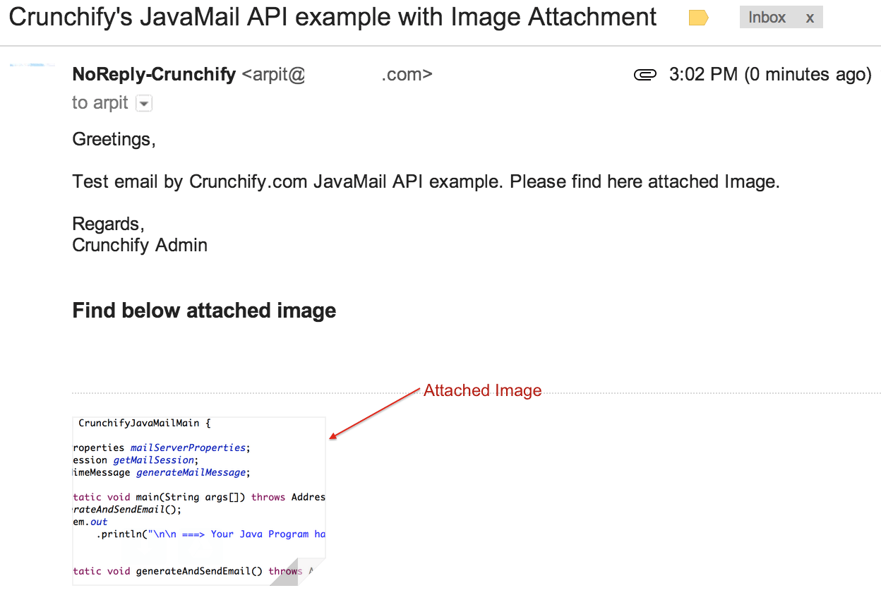JavaMailAPIwithImage - Crunchify Example