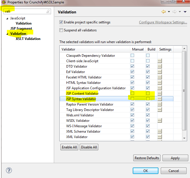 Crunchify-JSP-Validation-Error-Eclipse-Settings