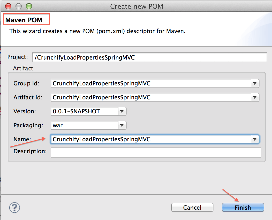 Create Maven POM Project - Crunchify