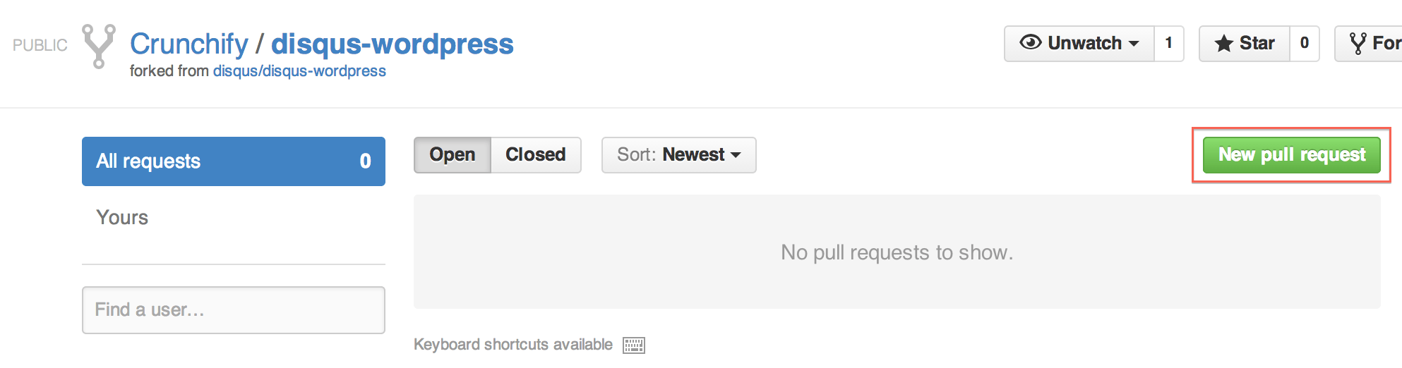 Create New Pull Request Github